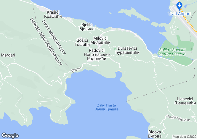 Map for Lustica