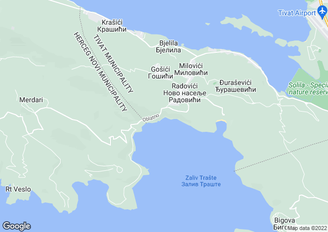 Map for Tivat