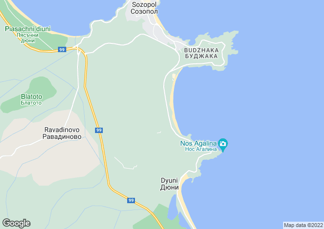 Map for Sozopol, Burgas