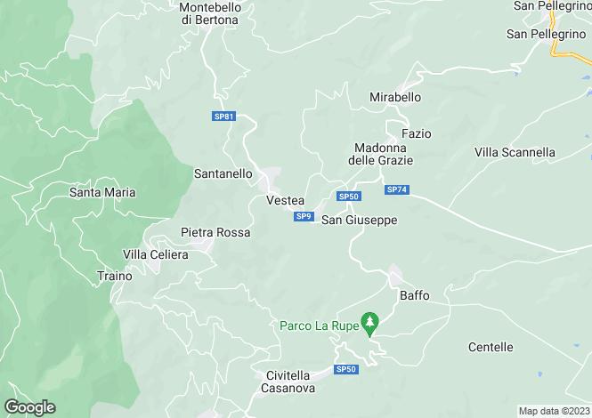 Map for Abruzzo, Pescara, Vestea
