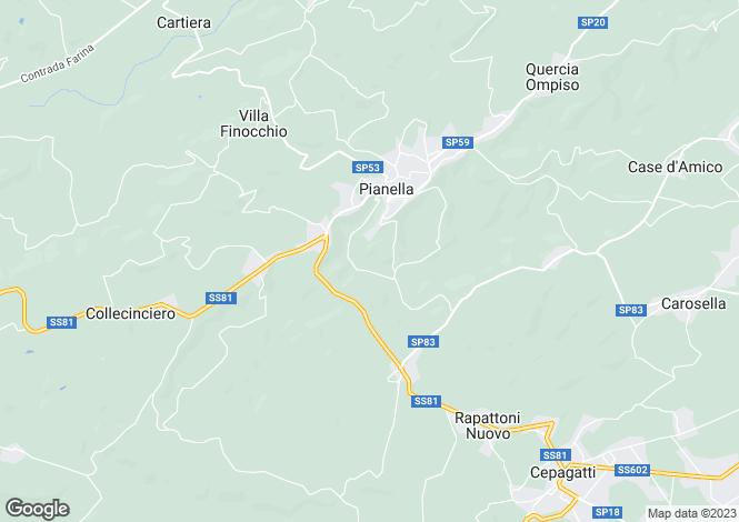 Map for Abruzzo, Pescara, Pianella