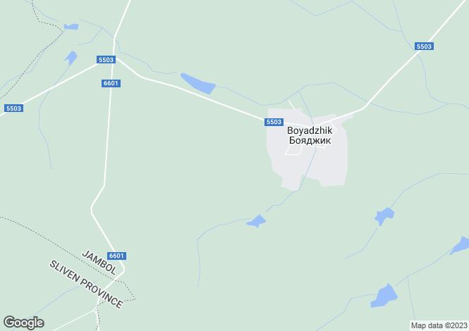Map for Yambol, Boyadzhik