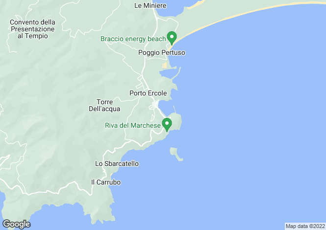 Map for Italy - Tuscany, Grosseto, Monte Argentario