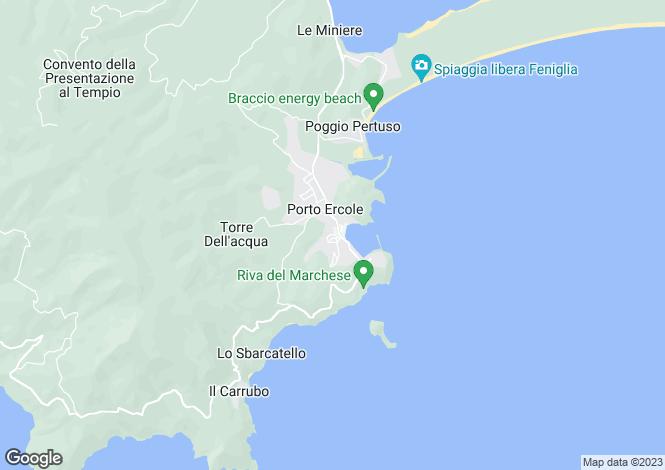 Map for Italy - Tuscany, Grosseto, Monte Argentario