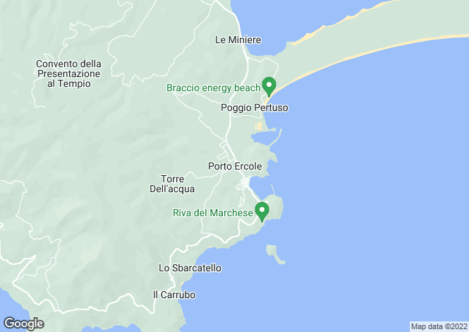 Map for Porto Ercole, Tuscany, Italy