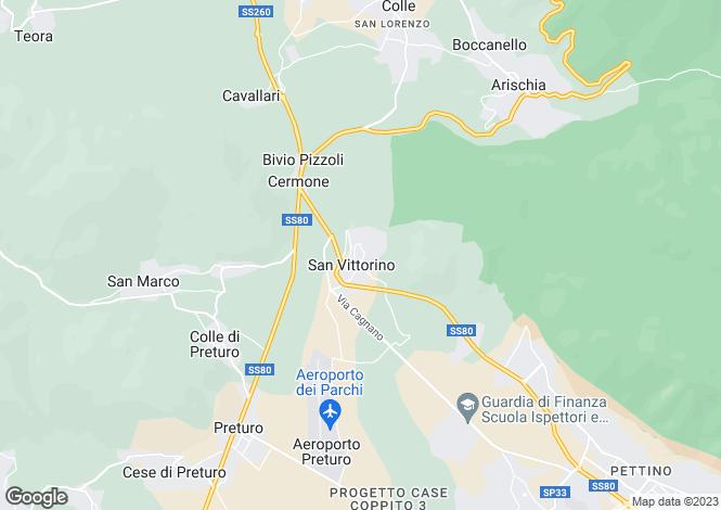 Map for L`Aquila, L`Aquila, Abruzzo