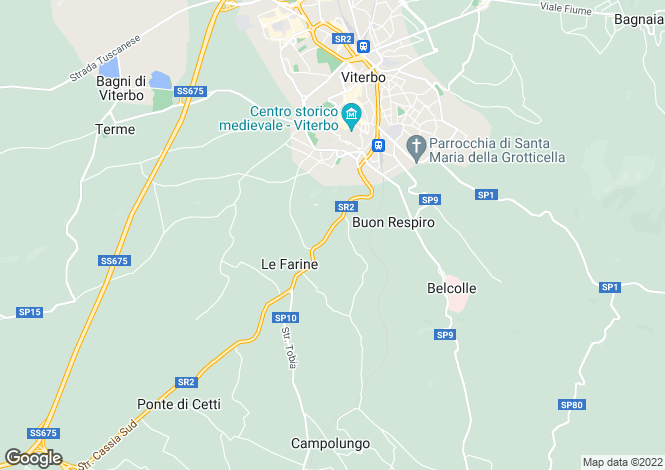 Map for Viterbo, Viterbo, Lazio