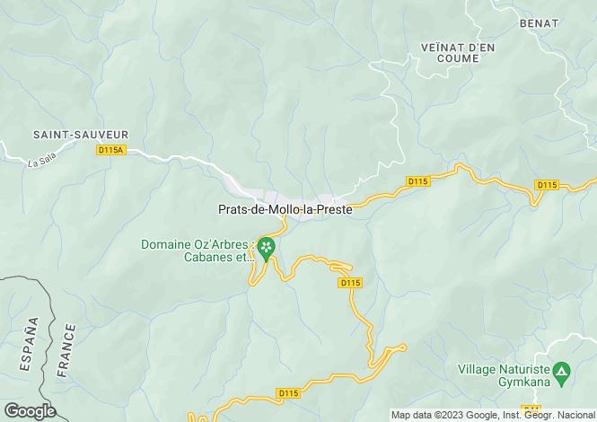 Map for Languedoc-Roussillon, Pyrénées-Orientales, Prats-de-Mollo-la-Preste