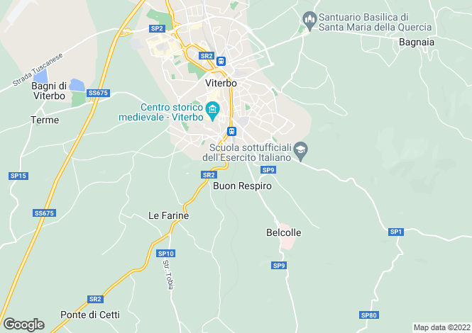 Map for Viterbo, Viterbo, Lazio