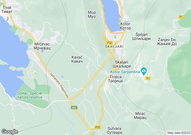 Map for Boka Kotorska