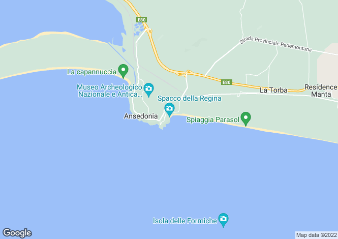 Map for Tuscany, Grosseto, Ansedonia