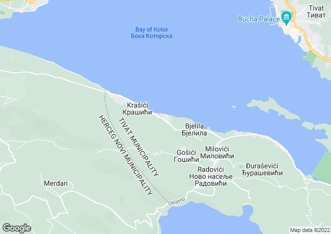 Map for Krasizci (Krasici)