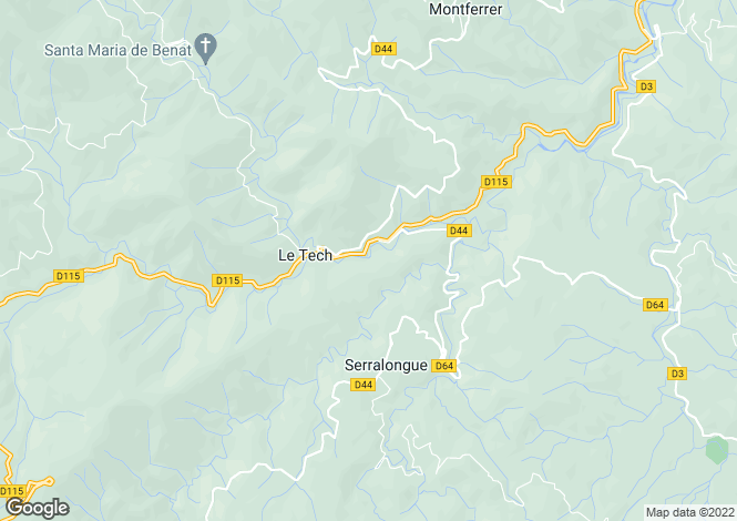 Map for Arles-sur-Tech, Pyrénées-Orientales, Languedoc-Roussillon
