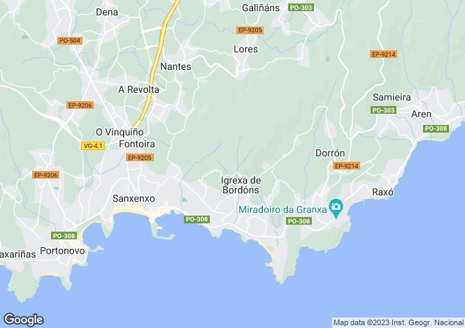 Map for Sanxenxo, Pontevedra, Galicia