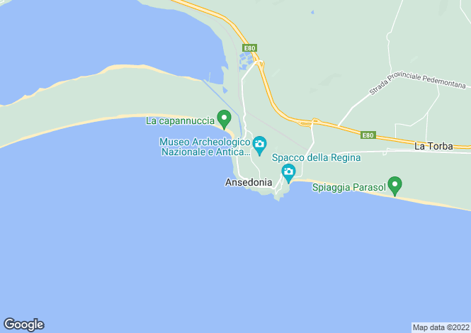 Map for Ansedonia, Grosseto, Italy
