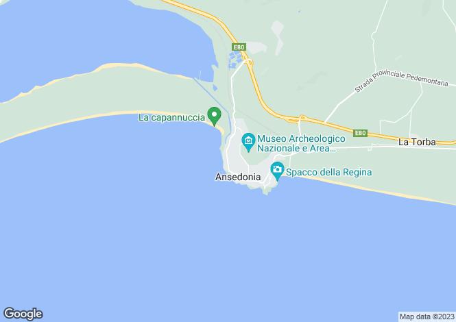 Map for Orbetello, Grosseto, Tuscany