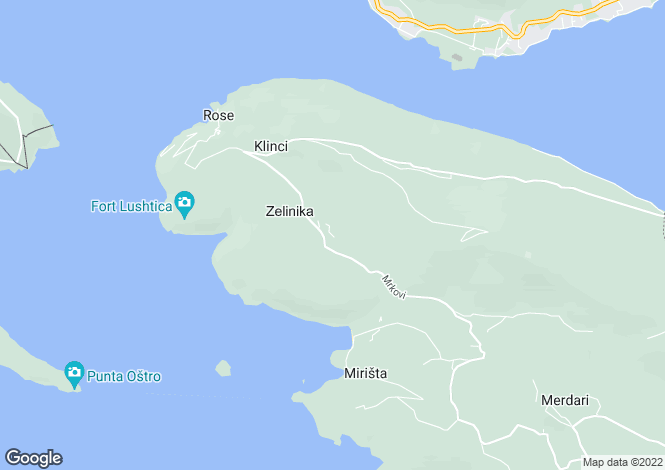 Map for Lustica Villa with pool in Mrkovi for Sale