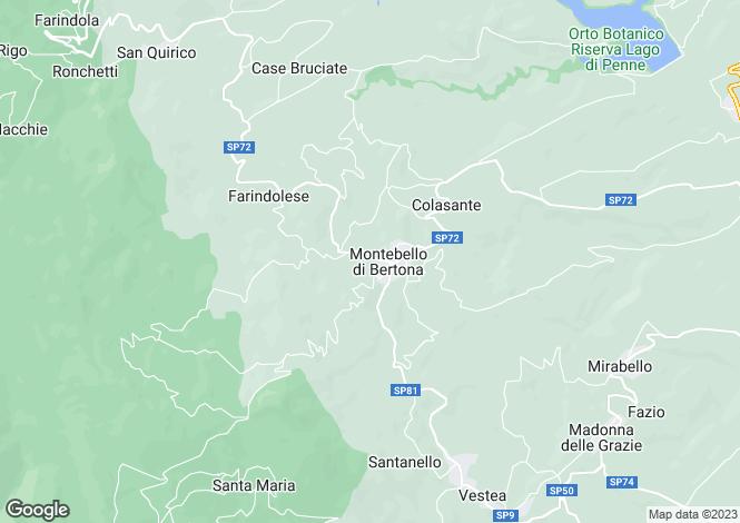 Map for Abruzzo, Pescara, Montebello di Bertona