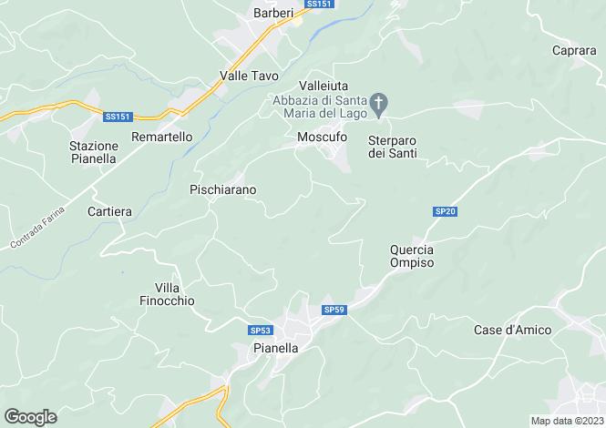 Map for Abruzzo, Pescara, Moscufo