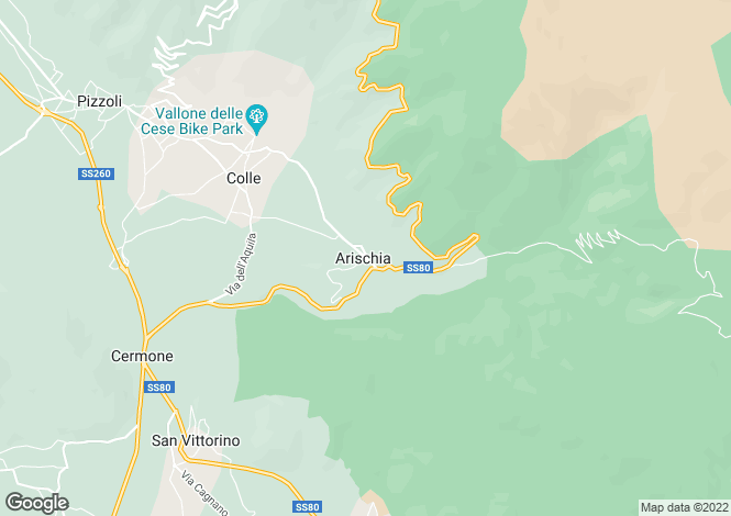 Map for Abruzzo, L`Aquila, Arischia