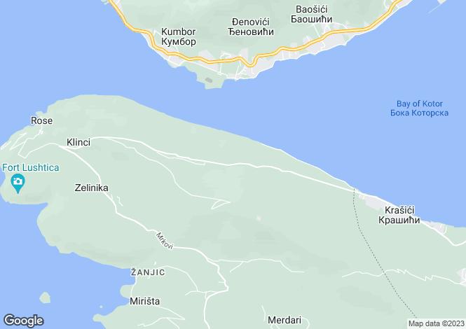 Map for Mitrovici, Lustica, Herceg Novi