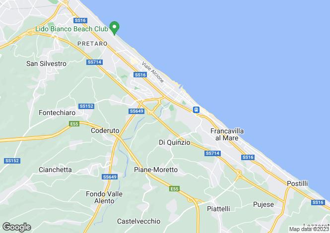 Map for Abruzzo, Chieti, Francavilla al Mare