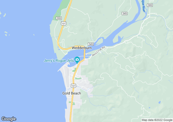 Map for Oregon, Curry County, Gold Beach