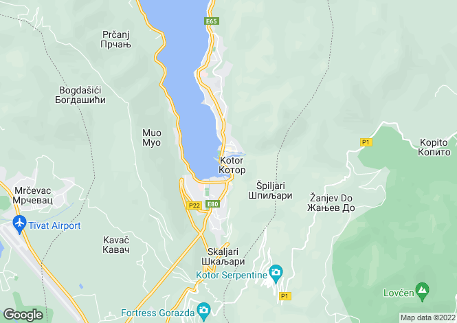 Map for Kotor Old Town 5 Star Accredited Boutique Apartment 4 bedroom 3