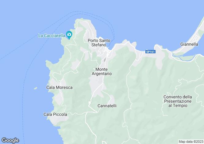 Map for Tuscany, Grosseto, Porto Santo Stefano