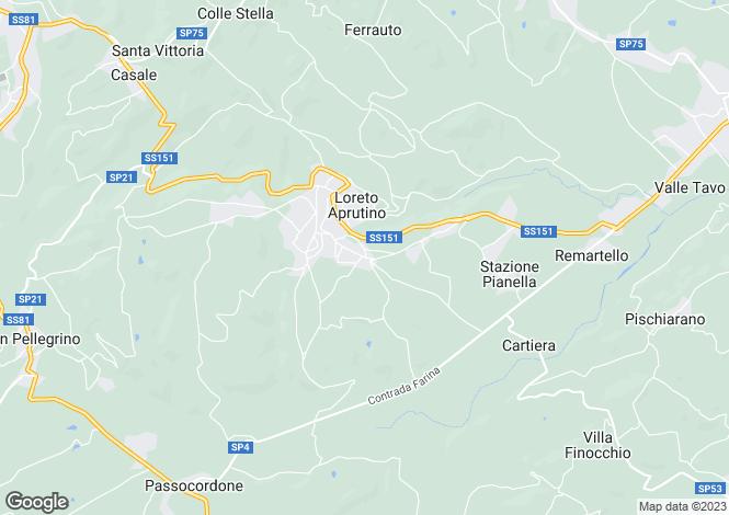 Map for Abruzzo, Pescara, Loreto Aprutino