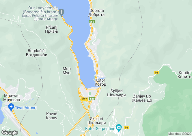 Map for Beautiful Apartment With A Sea VIew, Dobrota, Kotor, Montenegro