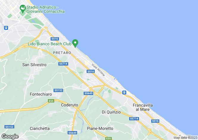 Map for Francavilla al Mare, Chieti, Abruzzo