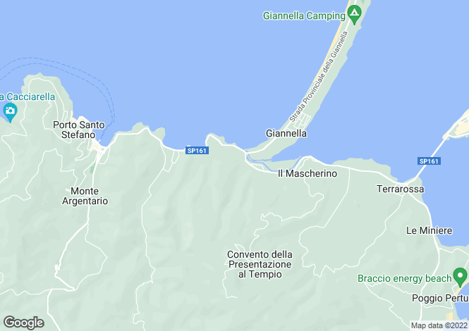 Map for Porto Santo Stefano, Grosseto, Tuscany