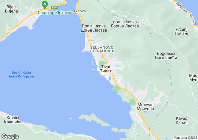 Map for Apartment, Porto Montenegro, Tivat, Montenegro