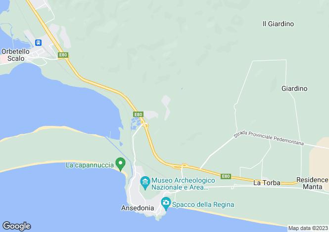 Map for Tuscany, Grosseto, Orbetello