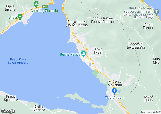 Map for Porto Montenegro Luxury Apartment overlooking Pool and Marina
