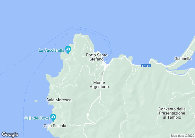 Map for Tuscany, Grosseto, Monte Argentario