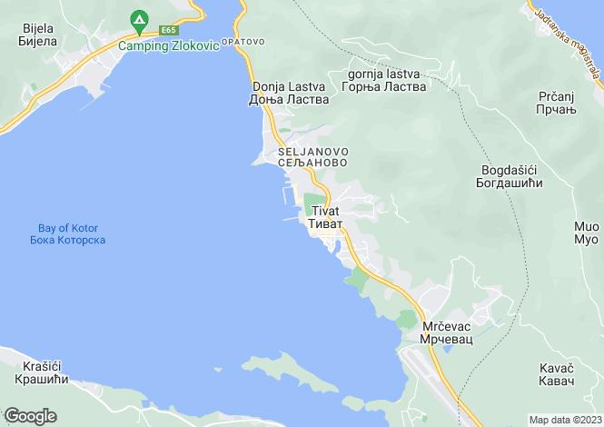 Map for Regent Porto Montenegro, Tivat, Bay Of Kotor, Montenegro