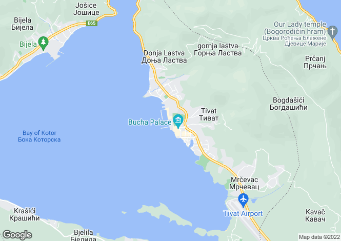 Map for Porto Montenegro, Tivat, Montenegro