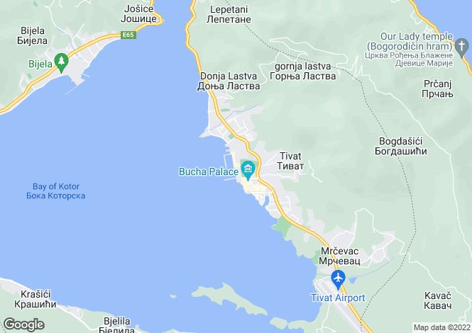 Map for Penthouse In The Regent Hotel, Porto Montenegro, Tivat, Montenegro