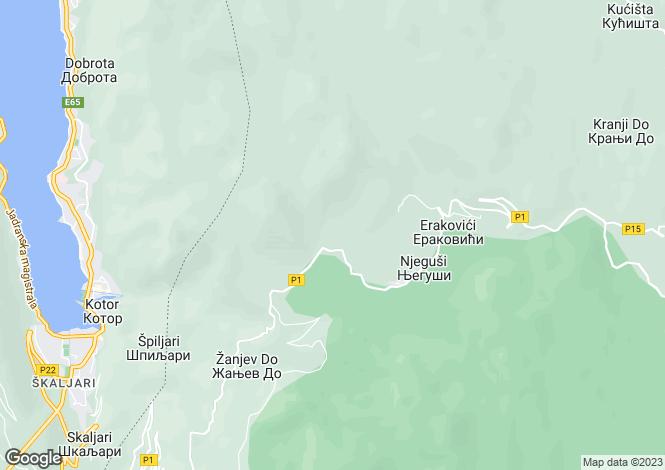 Map for Cetinje