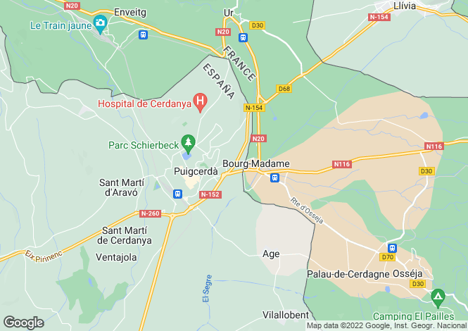 Map for Chalet Bolvir, Cataluña , Spain