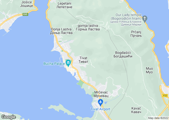 Map for Regent Porto Montenegro, Tivat, Montenegro