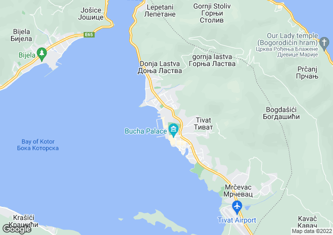Map for Porto Montenegro, Tivat, Montenegro