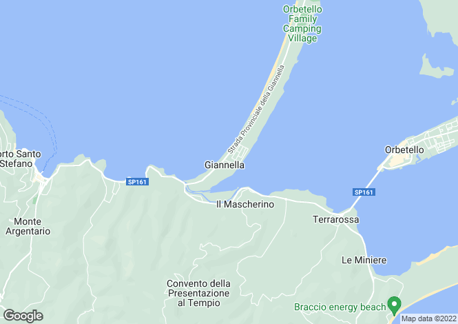 Map for Tuscany, Grosseto, Orbetello