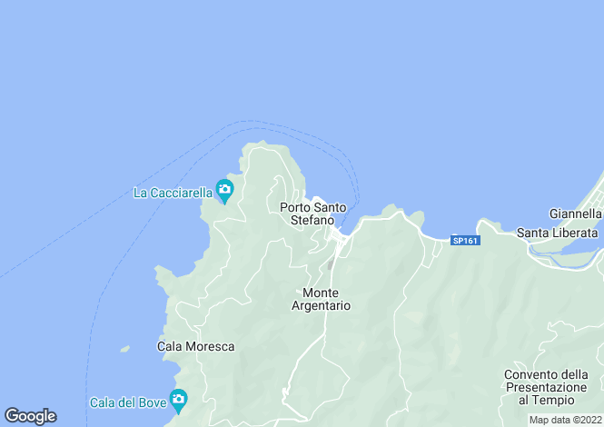 Map for Porto Santo Stefano, Tuscany, Italy