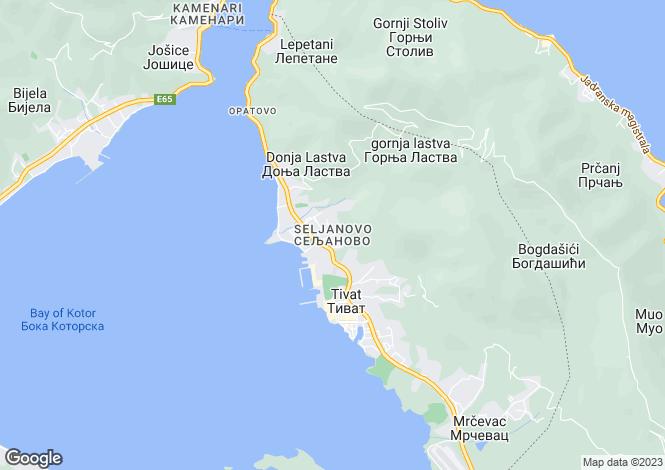 Map for Seljanovo, Tivat, Montenegro