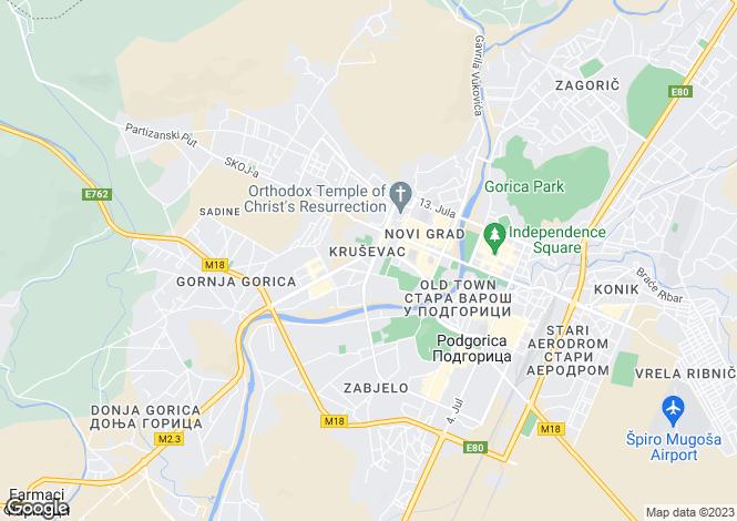 Map for The Capital Plaza, Pogorica, Montenegro