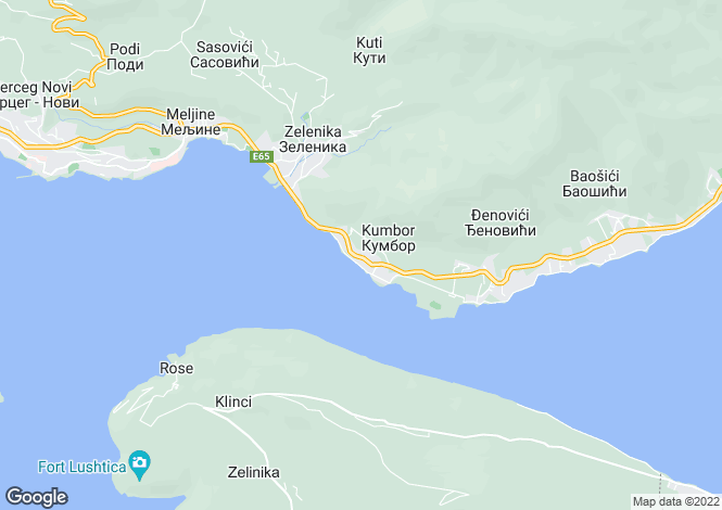 Map for Sunvalley Villas, Kumbor, Kotor Bay