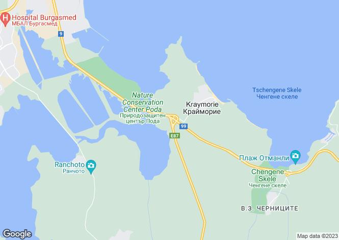 Map for Kraymorie, Burgas